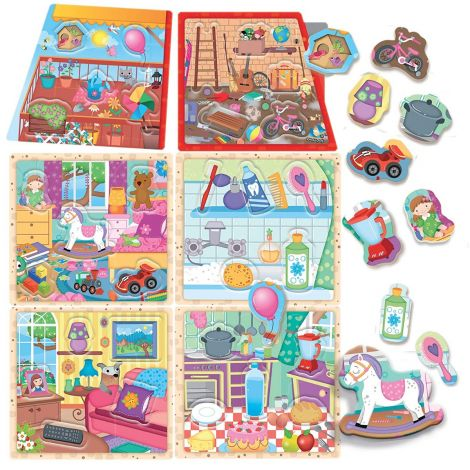 MONTESSORI SORTING PUZZLE: MY LITTLE HOUSE