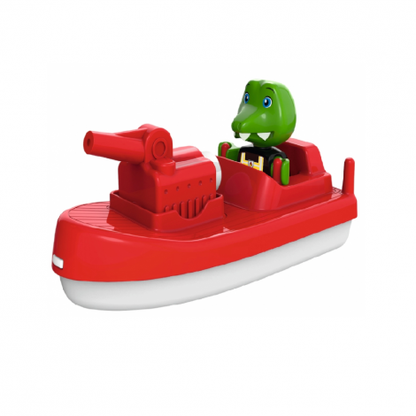 AQUAPLAY SQUIRTING FIREBOAT WITH SVEN THE CROCODILE