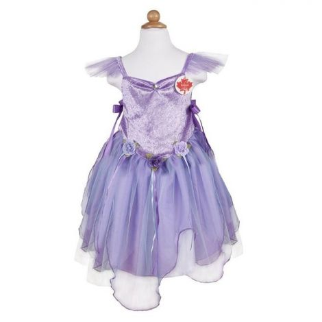 FOREST FAIRY TUNIC PLAY COSTUME, LILAC (SIZE 5/6)