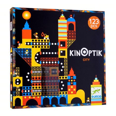 KINOPTIK ANIMATED OPTICAL ILLUSION PUZZLE: CITY (123PC)