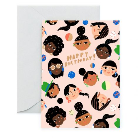C'EST CHIC GREETING CARD, BY CAROLYN SUZUKI