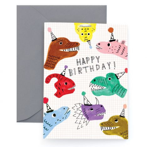 SARAH'S DINOS GREETING CARD, BY CAROLYN SUZUKI