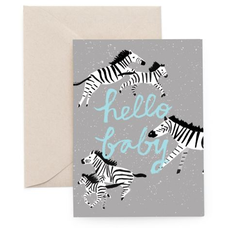 ZEBRA MOMENTS GREETING CARD, BY CAROLYN SUZUKI