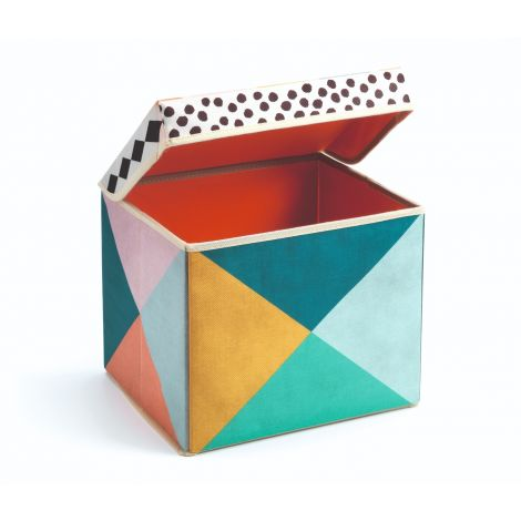GEOMETRIC TOY STORAGE BOX SEAT