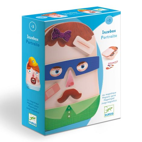 INZEBOX WOODEN MAGNETIC CREATION KIT: TROMBINO SILLY FACES