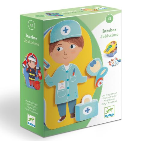 INZEBOX WOODEN MAGNETIC CREATION KIT: JOBISSIMO OCCUPATIONS