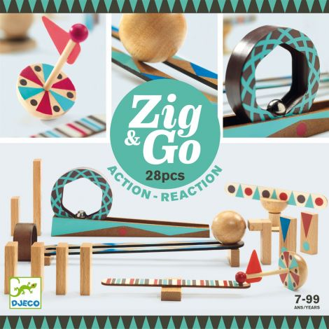 ZIG N GO ACTION-REACTION CONSTRUCTION SET (28PCS)