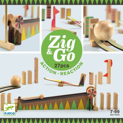 ZIG N GO ACTION-REACTION CONSTRUCTION SET (27PCS)