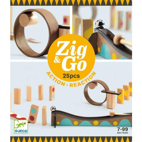 ZIG N GO ACTION-REACTION CONSTRUCTION SET (25PCS)