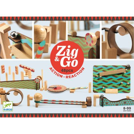 ZIG N GO ACTION-REACTION CONSTRUCTION SET (48PCS)