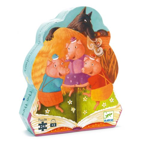 FAIRY TALE SILHOUETTE JIGSAW PUZZLE: THE THREE LITTLE PIGS (24PC)