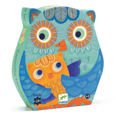 SILHOUETTE JIGSAW PUZZLE: HELLO OWL (24PC)