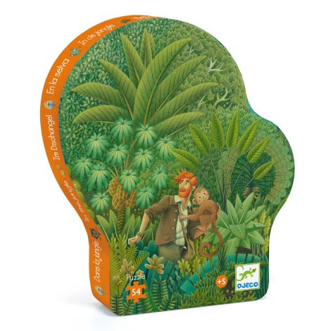 SILHOUETTE JIGSAW PUZZLE: IN THE JUNGLE (54PC)