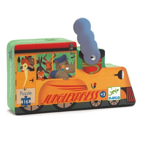 SILHOUETTE JIGSAW PUZZLE: THE LOCOMOTIVE (16PC)