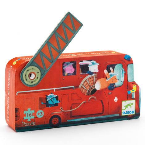 SILHOUETTE JIGSAW PUZZLE: THE FIRE TRUCK (16PC)