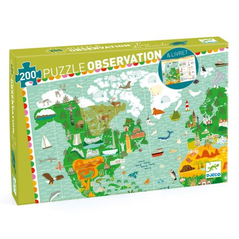 OBSERVATION JIGSAW PUZZLE: MONUMENTS OF THE WORLD (200PC)