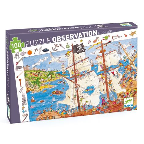 OBSERVATION JIGSAW PUZZLE: PIRATES (100PC)