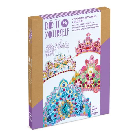 DO IT YOURSELF ACTIVITY SET: MOSAIC ROYAL CROWNS TO CREATE