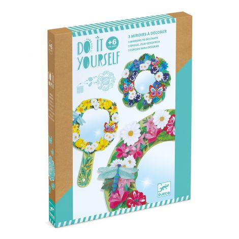 DO IT YOURSELF ACTIVITY SET: FLOWER MIRRORS