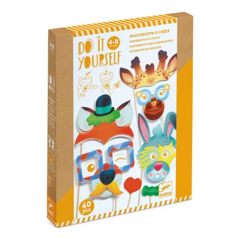 DO IT YOURSELF ACTIVITY SET: ANIMAL PARTY PHOTOBOOTH PROPS