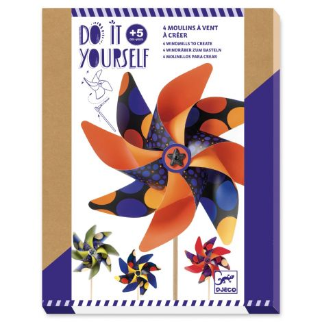 DO IT YOURSELF ACTIVITY SET: SPOTTED WINDMILLS TO CREATE