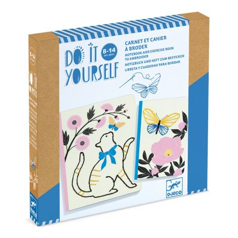 DO IT YOURSELF ACTIVITY SET: EMBROIDERED NOTEBOOKS TO CREATE