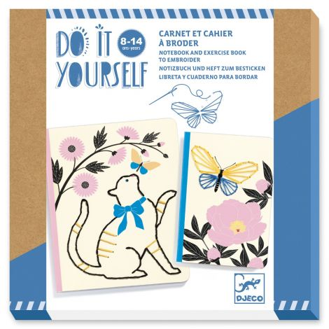 [PRE-ORDER: ETA END JUNE] DO IT YOURSELF ACTIVITY SET: EMBROIDERED NOTEBOOKS TO CREATE