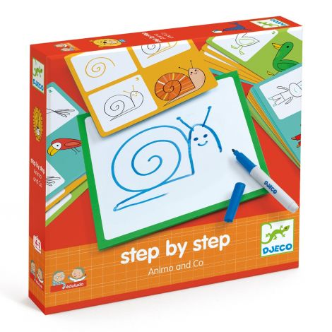 EDULUDO STEP-BY-STEP DRAWING KIT: ANIMALS & CO