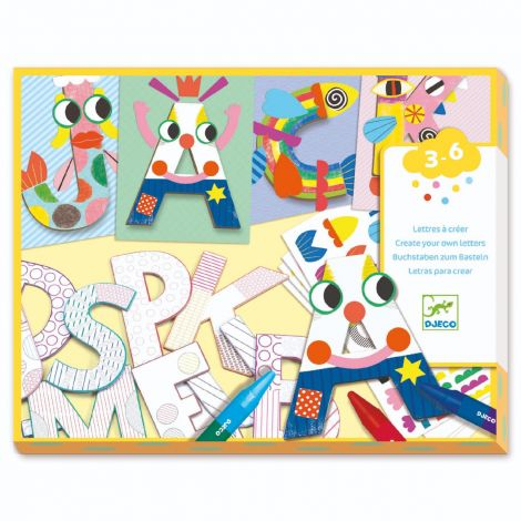 A WORLD TO CREATE COLOURING & PASTING WORKSHOP: LETTERS