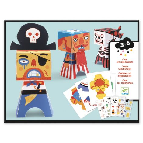 PAPER FOLDING + RUB-ON TRANSFER DECALS ART ACTIVITY SET: PIRATES