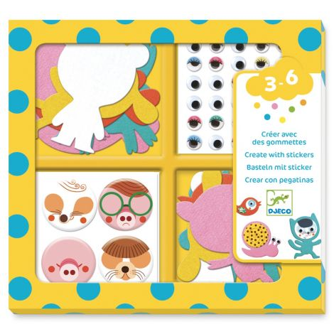 CREATE-WITH-STICKERS ACTIVITY SET: I LOVE ANIMALS