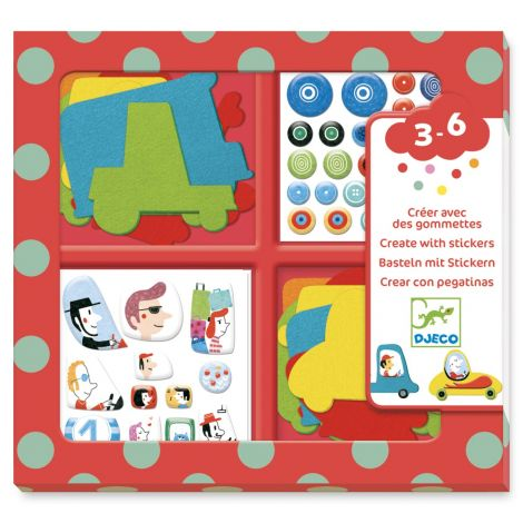CREATE-WITH-STICKERS ACTIVITY SET: I LOVE CARS