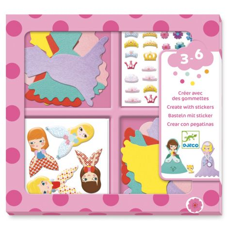 CREATE-WITH-STICKERS ACTIVITY SET: I LOVE PRINCESSES