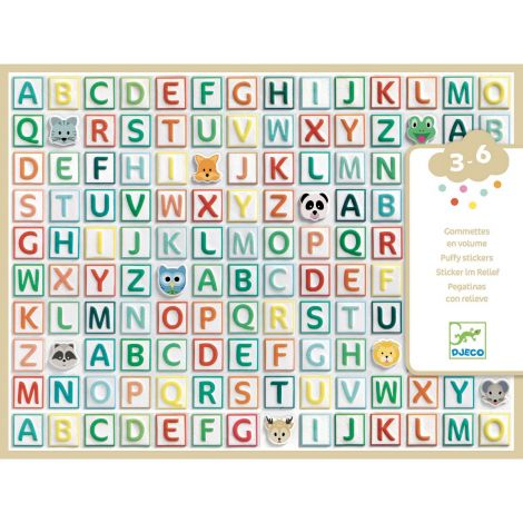 EASY-PEEL PUFFY STICKERS: LETTERS OF THE ALPHABET