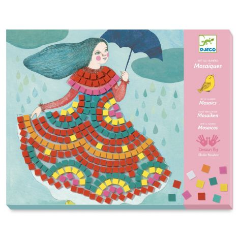 ART-BY-NUMBERS MOSAICS ACTIVITY SET: PARTY DRESSES