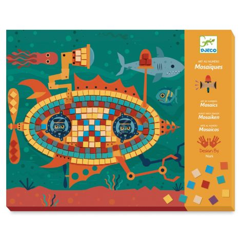 ART-BY-NUMBERS MOSAICS ACTIVITY SET: ACE AT THE WHEEL