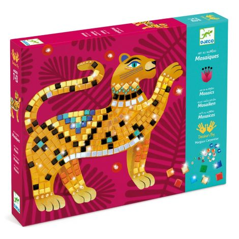 ART-BY-NUMBERS METALLIC MOSAICS ACTIVITY SET: DEEP IN THE JUNGLE