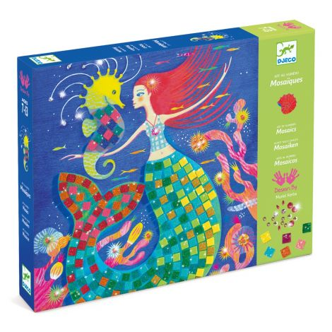 ART-BY-NUMBERS METALLIC MOSAICS ACTIVITY SET: THE MERMAID'S SONG