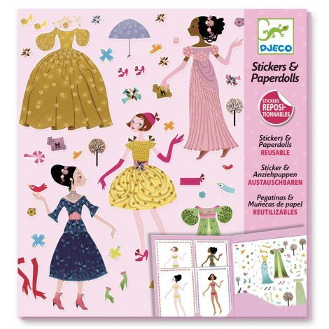 REPOSITIONABLE PAPER DOLL STICKERS ACTIVITY SET: DRESSES THROUGH THE SEASONS