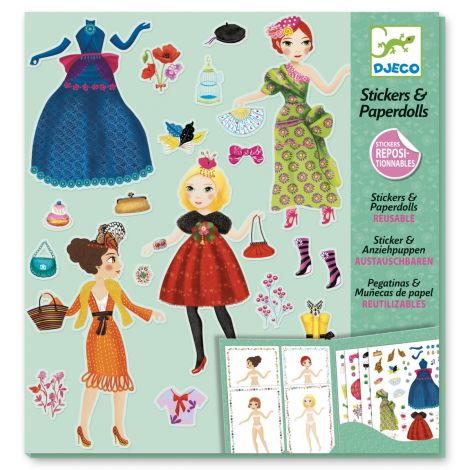 REPOSITIONABLE PAPER DOLL STICKERS ACTIVITY SET: MASSIVE FASHION