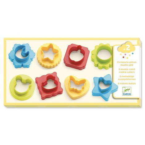 CLAY DOUGH DOUBLE-SIDED PRESS MOULDS, SET OF 8