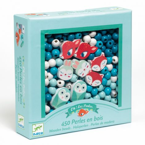 WOODEN JEWELRY BEAD BOUQUET BOX: SMALL ANIMALS