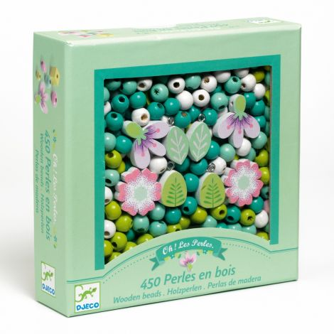 WOODEN JEWELRY BEAD BOUQUET BOX: FLOWERS & NATURE