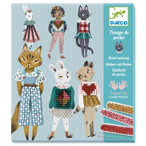 BEAD EMBROIDERY WORKSHOP KIT: KITTY CATS