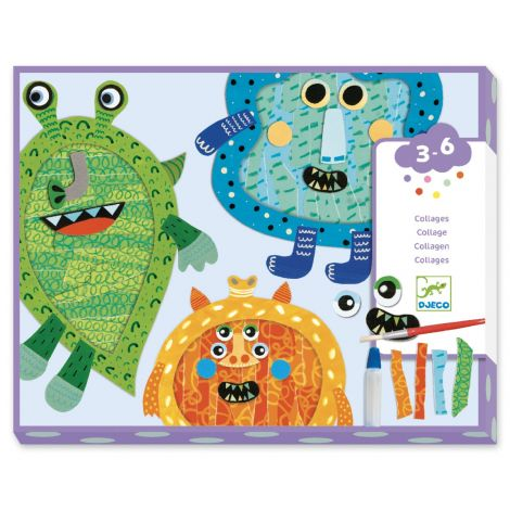 COLLAGE WORKSHOP FOR LITTLE ONES: HAPPY MONSTERS