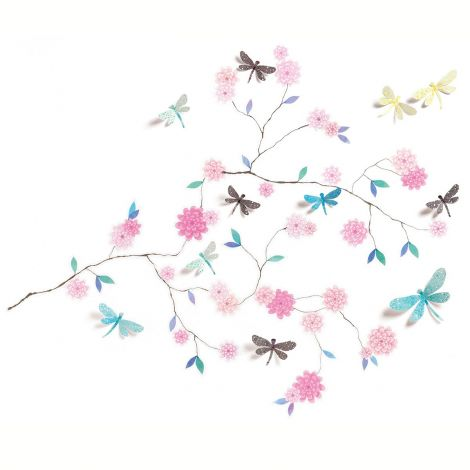 3D WALL STICKERS: DRAGONFLIES TREE