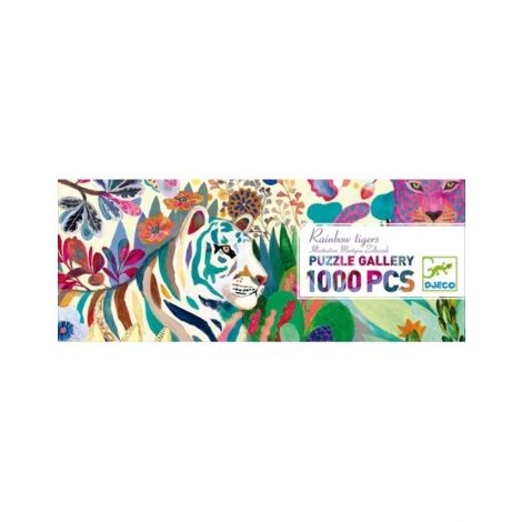 GALLERY PUZZLE: RAINBOW TIGERS (1000PC)