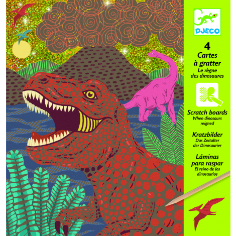 GLITTER SCRATCH ART ACTIVITY SET: WHEN DINOSAURS REIGNED