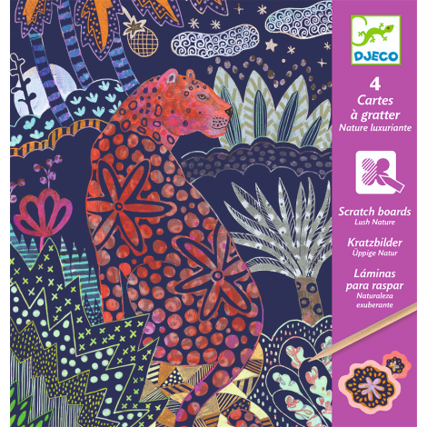 SCRATCH ART ACTIVITY SET: LUSH NATURE