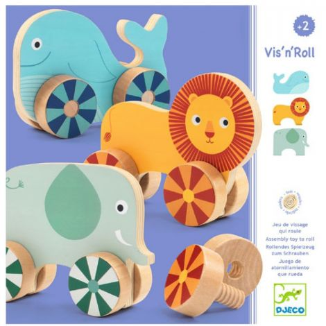 VIS N' ROLL ANIMALS ASSEMBLING SET